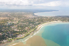 Aerial view of Dar Es Salaam Royalty Free Stock Photos