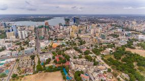 Aerial view of Dar es Salaam city, Tanzania. Aerial view of Dar es Salaam city royalty free stock photos