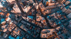 Aerial view of Dar es Salaam city, Tanzania. Aerial view of Dar es Salaam city stock photo
