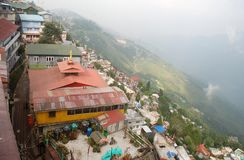 Aerial view of Darjeeling. Aerial view of the famous tourist destination Darjeeling Royalty Free Stock Image