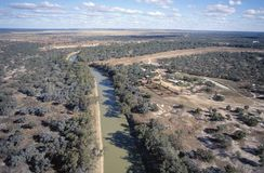 Aerial view of the Darling river royalty free stock photography