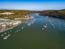 An aerial view of Dartmouth in Devon, UK royalty free stock photos