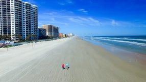 Aerial view of Daytona Beach. Royalty Free Stock Photo