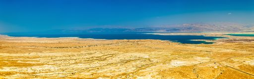 Aerial view of the Dead Sea in Israel Royalty Free Stock Photo