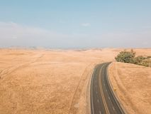 Aerial view of the Death Valley in USA stock photography