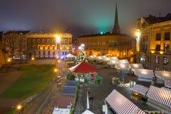 Christmas Market in Riga, Latvia royalty free stock photo