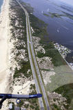 Aerial View-Southern Delaware Beach royalty free stock photography