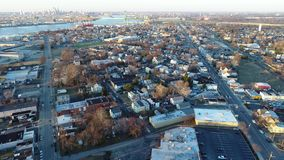 Aerial View of Delaware Riverfront Community Gloucester  NJ stock video footage