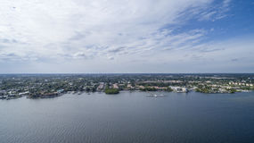 Aerial view Delray Beach, Florida Royalty Free Stock Images