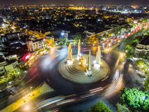 Aerial view of democracy monument. Aerial view of democracy monument, Bangkok, Thailand Royalty Free Stock Photos