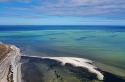 Aerial view from Denham lookout. In Western Australia royalty free stock photo