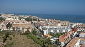 Aerial view of Denia Stock Photography