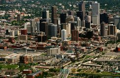 Aerial view of Denver. This is an aerial view of downtown Denver, Colorado, USA Royalty Free Stock Image