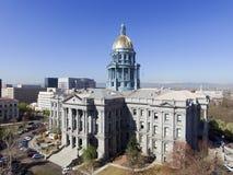 Aerial View of Denver Colorado Capital Building Stock Photo