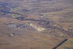 Aerial view of Denver farm Stock Photography