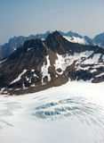 Aerial view of the Denver Glacier Royalty Free Stock Photos