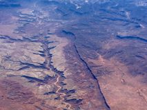 Aerial view of desert canyon Stock Image