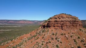 Aerial view of the desert and canyons in utah stock footage