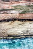Somalia. Aerial view of the desert coastline of somalia Africa Royalty Free Stock Photos