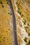 Aerial view of a desert highway Stock Image