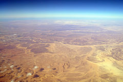Aerial view desert and montain Stock Photography