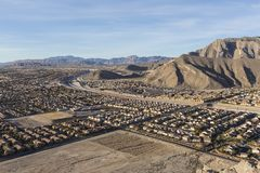 Desert Suburbia near Lone Mountain in Las Vegas Stock Images
