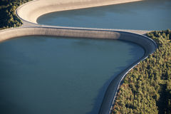 Free Aerial View : Detail Of A Barrage With 2 Lakes Royalty Free Stock Image - 11147846