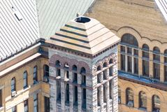 Aerial view detail of the Old City Hall in Toronto Royalty Free Stock Image