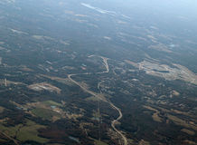 Aerial View Of Developed Area Stock Photo