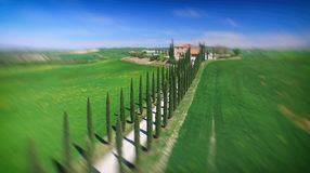 Aerial view df agriturismo, Tuscany in spring time - Italy Royalty Free Stock Photography