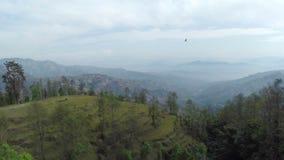 Aerial view of Dhulikhel district in the Kathmandu valley, Nepal stock video