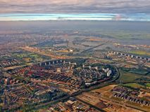 Aerial view of Diemen Amsterdam Holland Royalty Free Stock Photography