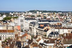 Aerial view of Dijon city in Burgundy, France royalty free stock photo