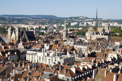 Aerial view of Dijon city in France Stock Image