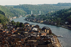 Aerial view of Dinant, Belgium Stock Photography