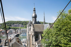 Aerial view Dinant seen from cable car to top of citadel, Belgium Stock Images