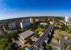 Aerial view of the district Bruck of the city of Erlangen in Bavaria Stock Images