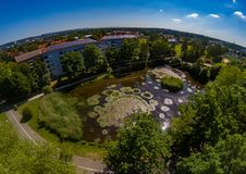 Aerial view of the district Bruck of the city of Erlangen in Bavaria Stock Photos