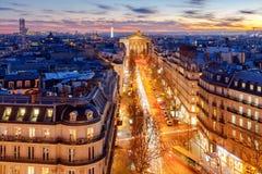 Paris. Aerial view at night. Royalty Free Stock Image