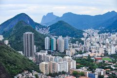 Aerial view of districts of Rio de Janeiro, Brazil stock photo