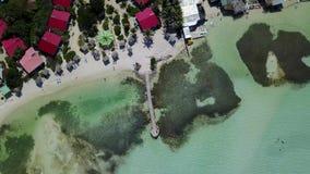 Bonaire island Caribbean sea windsurf lagoon Sorobon aerial drone top view 4K UHD video stock video footage