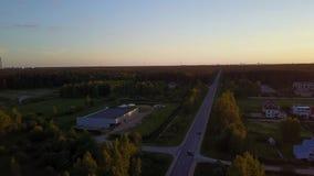 Aerial view DJI pro drone top view 4K UHD video. Aerial view DJI drone top view 4K UHD video stock video