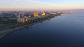 The aerial view of Dnipropetrovsk downtown at the summer. stock footage