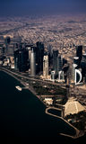 Aerial view of Doha. Aerial view of Doha, Middle East, Qatar Royalty Free Stock Photos