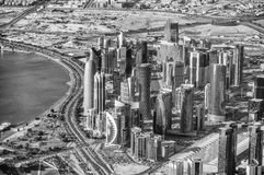 Aerial view of Doha skyline, Qatar Stock Image