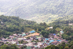 Aerial view Doi Pui Hmong village Stock Photo