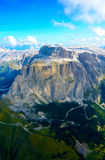 Aerial view in Dolomites Royalty Free Stock Image