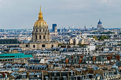 Aerial view of Dome des Invalides, Paris, France Royalty Free Stock Photography