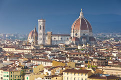 Aerial view of the Dome of Duomo Stock Photo