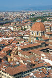 Aerial view of the Dome of Duomo Royalty Free Stock Photo